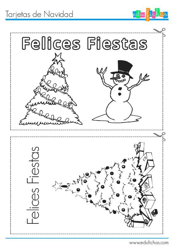 tarjetas navideas para imprimir