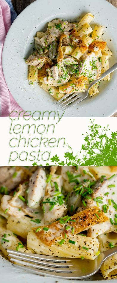 Chicken thighs provide an intense chicken flavour in this creamy lemon chicken pasta, throw in some anchovies and capers and you have a taste sensation! #pasta #pastarecipes #italianfood #quickdinner #quickdinnerideas #chicken #chickendinner #chickenrecipes #dinner #dinnerrecipes
