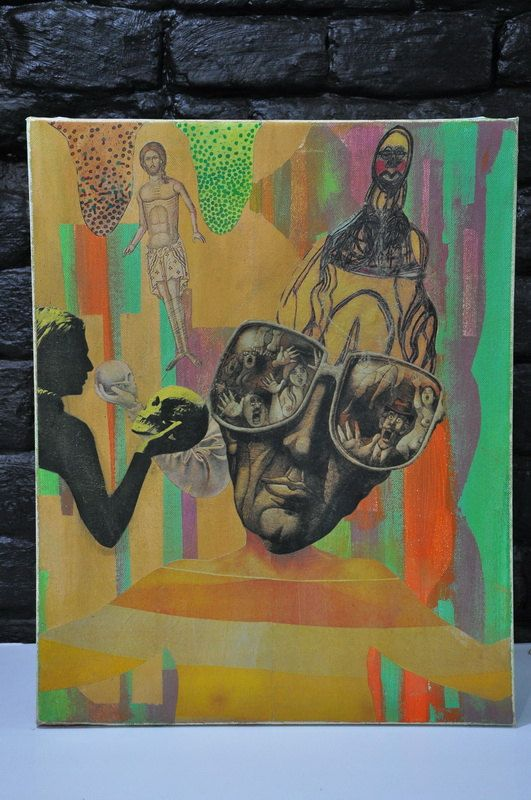 Mixed Media Collage Altered ArtDeviant art Collage by FuraKulum, $400.00