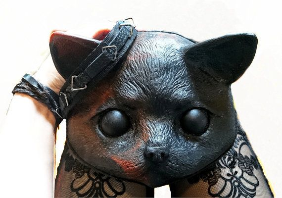 Lederen rugzak kat zak kat rugzak kat kunst leder kitten rugzak kat tote tas kitty rugzak kat zak catnip Lederen rugzak kat tas