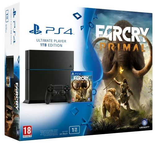 Playstation 4 1TB + Far Cry Primal (Hårdvara)