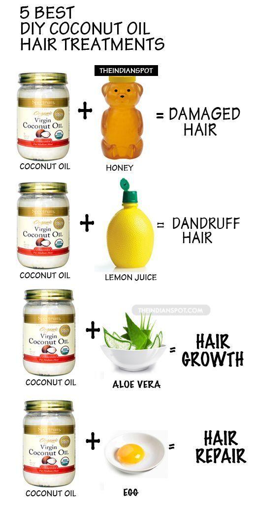 5 Coconut Oil Hair Treatments
