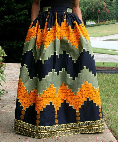 Another great find on #zulily! Black & Mustard Tribal Maxi Skirt by Mélange Mode #zulilyfinds