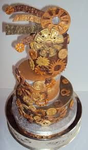 Image result for steampunk birthday cake