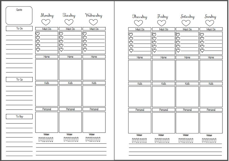 """I love the erin condren planner so much! The weekly pages are gorgeous and functional. However I could not always work with their morning day and night sections, and I like having a """"must do"""" section! Hence I created this printable! I have yet to try to these out, but will update as soon as …Continue Reading..."""