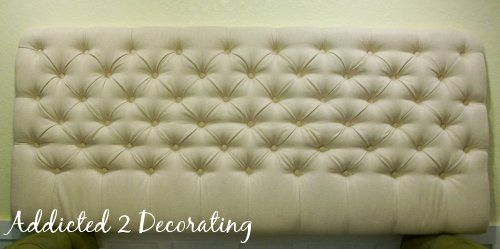 Diamond-Tufted Upholstered Headboard - Addicted 2 Decorating®