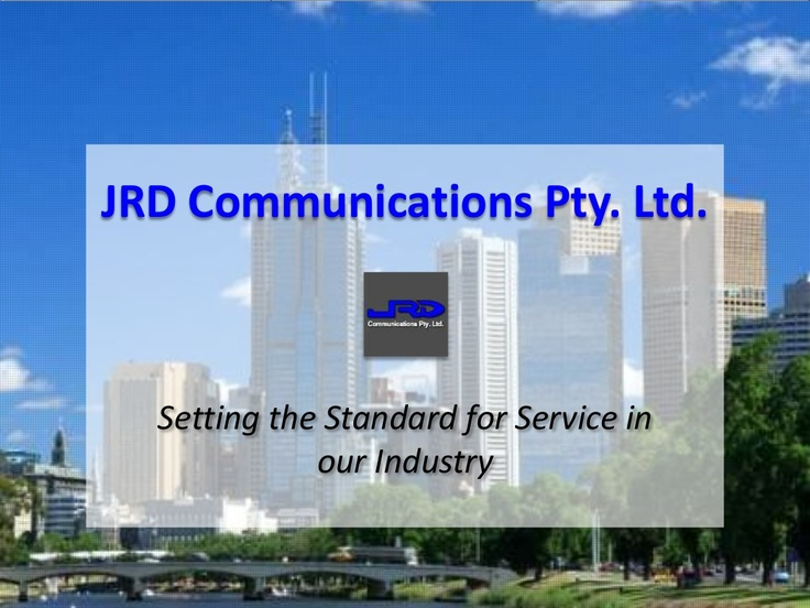 Learn more about JRD Communications Pty Ltd via Slideshare: http://www.slideshare.net/kunoichiau/jrd-communications
