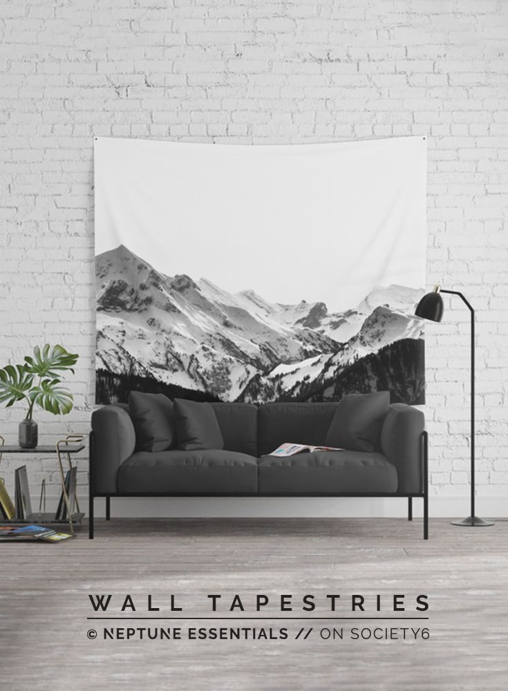 Mountain Views Wall Tapestry    Available in three distinct sizes, our Wall Tapestries are made of 100% lightweight polyester with hand-sewn finished edges. Featuring vivid colors and crisp lines, these highly unique and versatile tapestries are durable enough for both indoor and outdoor use. Machine washable for outdoor enthusiasts, with cold water on gentle cycle using mild detergent - tumble dry with low heat.