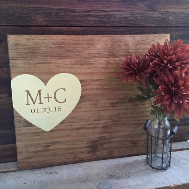 Rustic Wedding Guest Book Alternative / Initials & Heart Guest Book / Painted Wood Guest Book Rustic Wedding Decor Wood Country Wedding Gift by TheRusticEarth on Etsy https://www.etsy.com/listing/260024055/rustic-wedding-guest-book-alternative