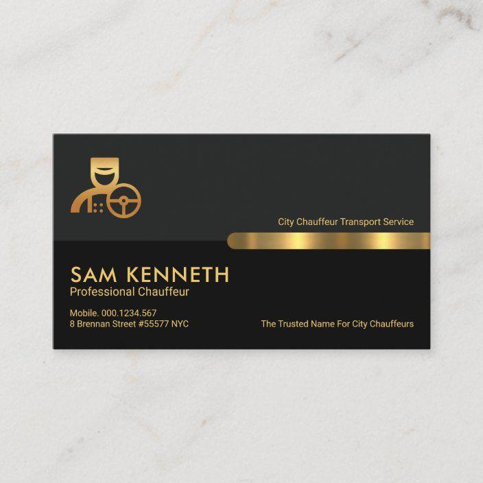 Grey Black Retro Columns Limo Chauffeur Business Card Zazzle Com Retro Business Card Business Cards Limo