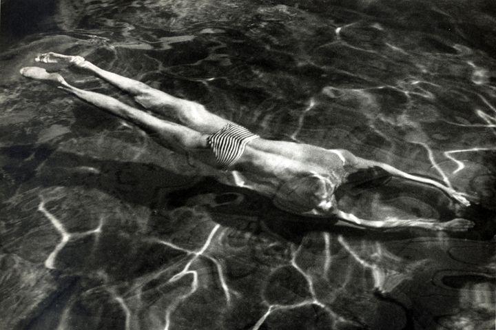 André Kertész • Underwater Swimmer, Esztergom, 1917