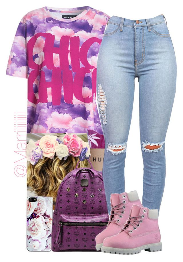 """""""First day of school"""" by trill-forlife ❤ liked on Polyvore featuring House of Holland, Zero Gravity, MCM and Timberland"""