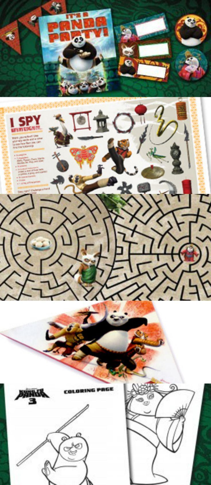Free coloring pages kung fu panda - 4 Reasons To See Kung Fu Panda 3 And Free Printable Kids Activities Party Ideas