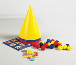 Make your own clown hat activity for circus party
