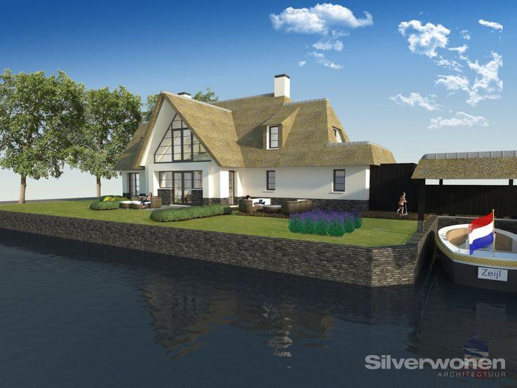 SILVERwonen ontwerpt een moderne eigentijdse villa in een nieuw aan te leggen natuurgebied in het waterrijke Westland.