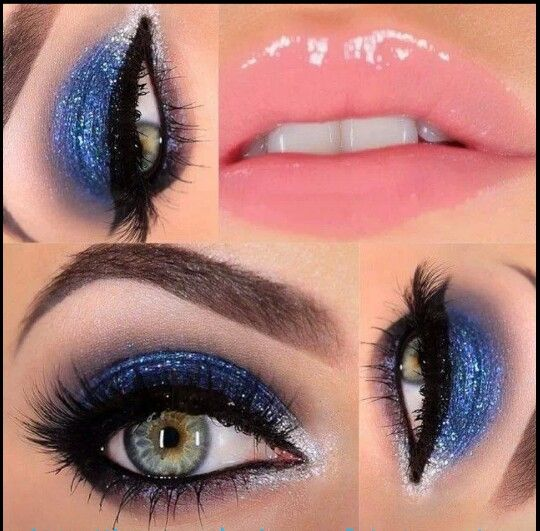 Beautiful new year's makeup