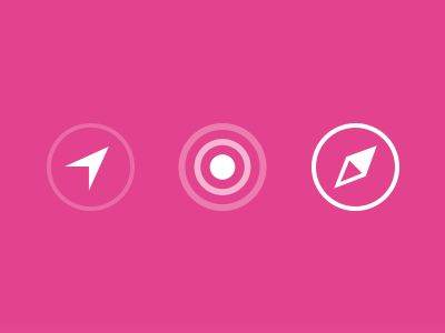 Nearby Friends Iconography by Jasper Hauser for Facebook