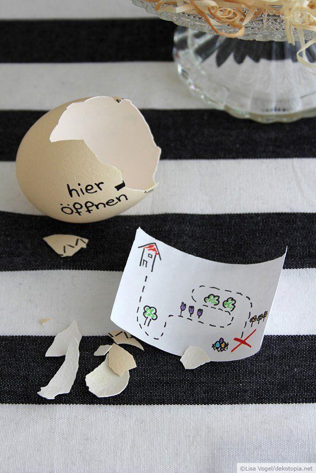 Wie wäre es dieses Jahr mal mit einer Ostereier-Schatzsuche? Hierfür könnt ihr eine Schatzkarte ganz einfach in einem Ei verstecken und beim Osterfrühstück servieren. Oder ihr versteckt einfach ein paar Ostergrüße in eurem Ei… Und so wird's gemacht: Zeichnet eure … weiterlesen