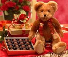 Valentine Teddy Bear With Valentine Chocolates and Truffles - $54.99  www.teelieturner.com #ValentinesDay