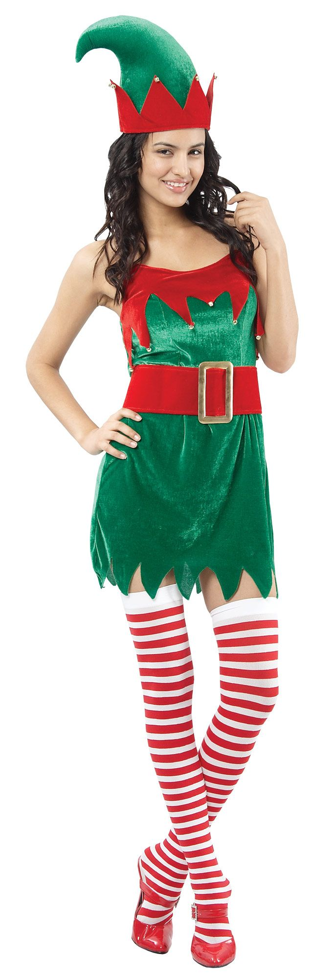 Costume elfo di Natale donna http://www.vegaoo.it/costume-elfo-di-natale-donna.html