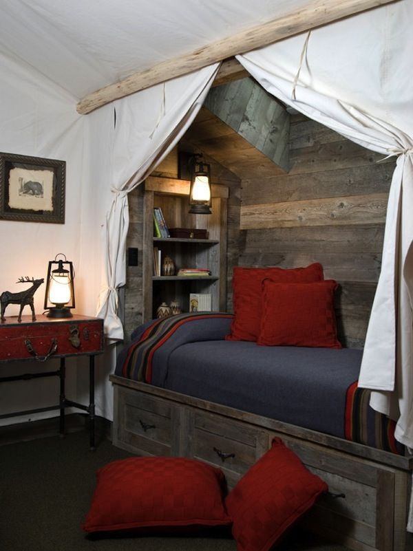 Canvas Curtains | Tie Backs | Reading Nook | Indoor Tent | Kids Rooms | Eclectic Interior | Whimsical