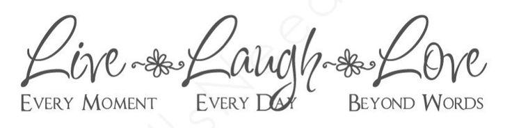 Live laugh love tattoo