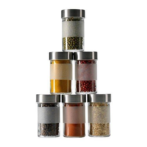 I NEEEED to streamline my spices.  Probably need about a dozen of these.  DROPPAR Spice jar  - IKEA