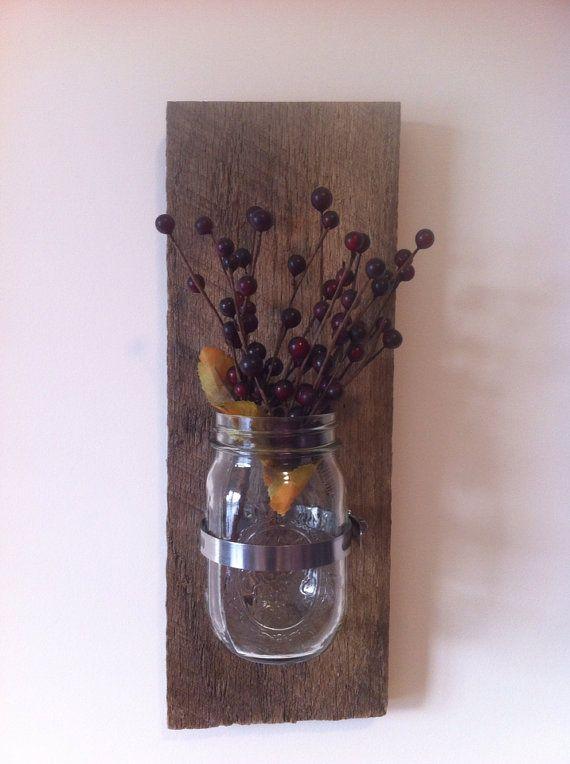 Mason Jar Wall Decor Pinterest : Mason jar wall decor for the home