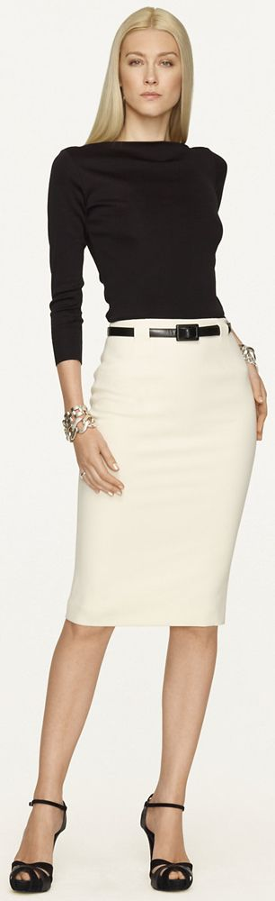 This is a hot church usher outfit... (black & white) alright... Ralph Lauren ~ went to church on us