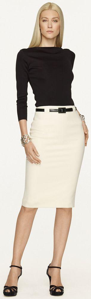 Businesswomen Attire / Work Clothes Ralph Lauren Black Label Skirt