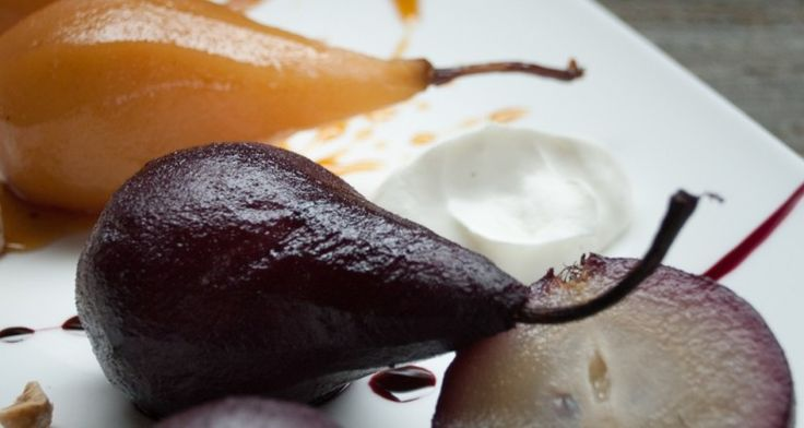 Red Wine Poached Pears http://gustotv.com/recipes/dessert/pears-poached-red-wine-cardamom-orange/