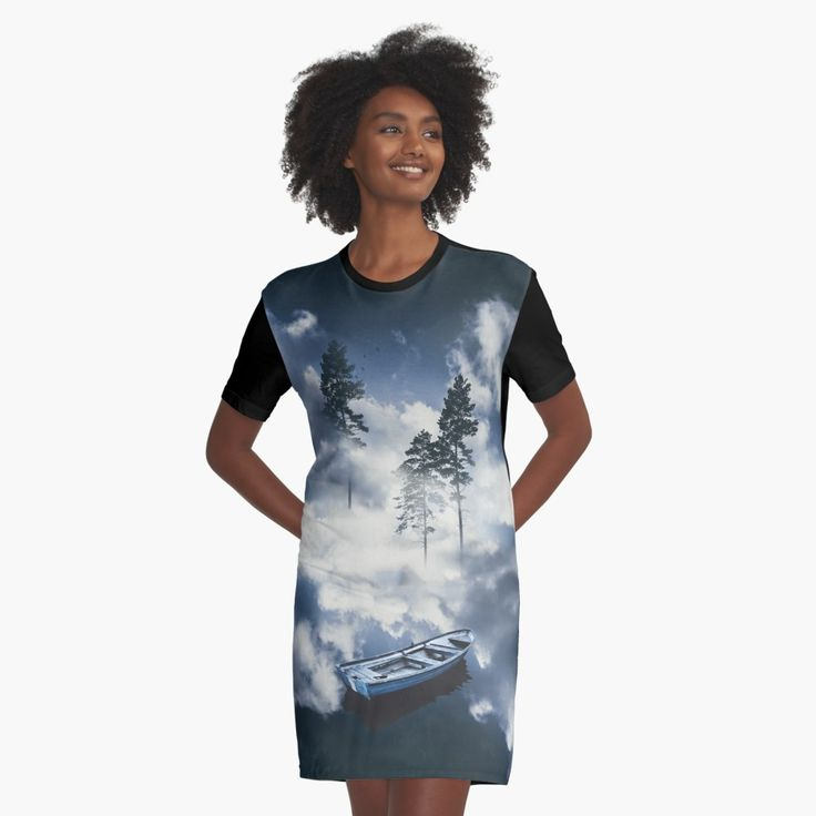 'Forest sailing' Graphic T-Shirt Dress by HappyMelvin. #surreal #nature #dress #fashion