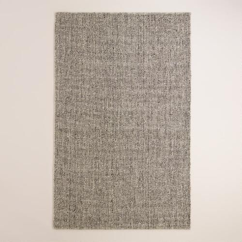 One of my favorite discoveries at WorldMarket com  Light Gray Emilie Flatweave Sweater Wool Area Rug