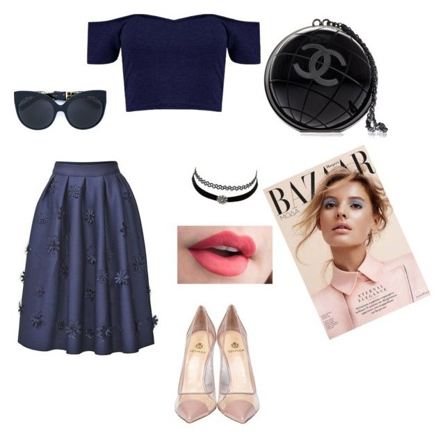 """""""Untitled #13"""" by mayapriskilla on Polyvore featuring Semilla, Linda Farrow, Charlotte Russe and Chanel"""