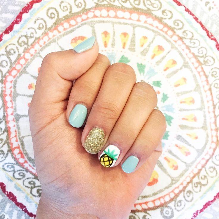 Pineapple Nail Art Ideas | POPSUGAR Beauty