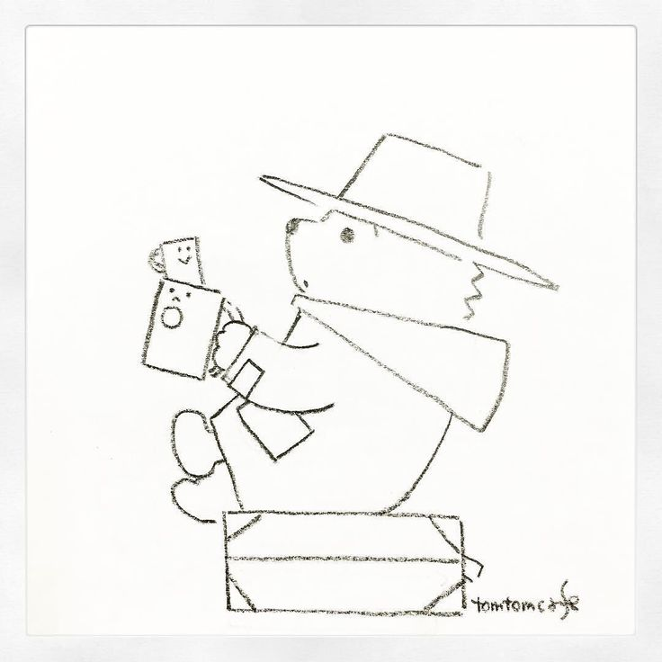 140. Happy Birthday Michael Bond. I drew his charactor Paddington Bear. 1月13日は作家マイケルボンドの誕生日ということでボンドの代表作くまのパディントンのパディントンを描いてみました #100tomtomcafe #MichaelBond #PaddingtonBear #Paddington #イラストレーション #スケッチ #模写 #illustration #drawing #sketch #doodle #fanart by tomtomcafe
