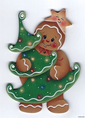 HP GINGERBREAD with Christmas Tree FRIDGE MAGNET