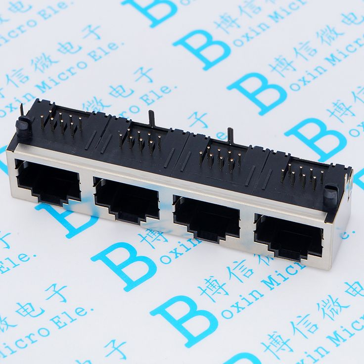 RJ45 Socket  56 1 * 4 No Lights Network Socket 4 Port  8p8c With Shield  No Lights  No Shrapnel 4 Siamese #Affiliate