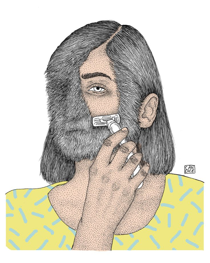 I shave my beard on Behance