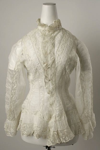 Dressing jacket Date: 1880–81 Culture: American or European Medium: linen, cotton