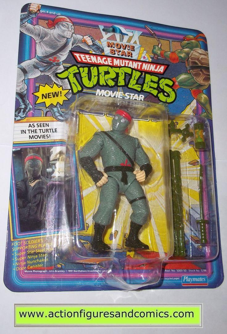 teenage mutant ninja turtles FOOT SOLDIER MOVIE STAR 1992 vintage playmates toys mib moc mip tmnt #711