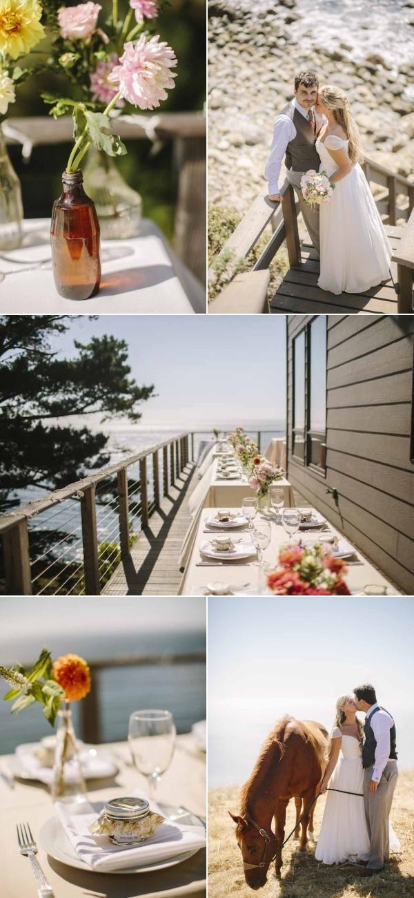 beach wedding places in california%0A Big Sur Wedding Photos