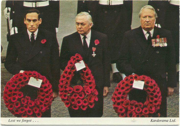 Postcard of Jeremy Thorpe, Harold Wilson & Edward Heath