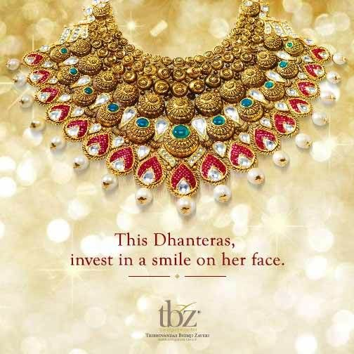 Happy #Dhanteras! #TBZ #Jewellery #FestiveSeason #Gold #Necklace