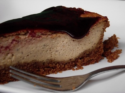 My cheese cake with panela raw sugar and cherry jam. mmmmm....Gorgeous!