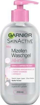 Das Garnier SkinActive Mizellen Waschgel normale und empfindliche Haut zieht Unreinheiten, Talgüberschuss und Make-up an wie ein Magnet. In nur einem einfa...