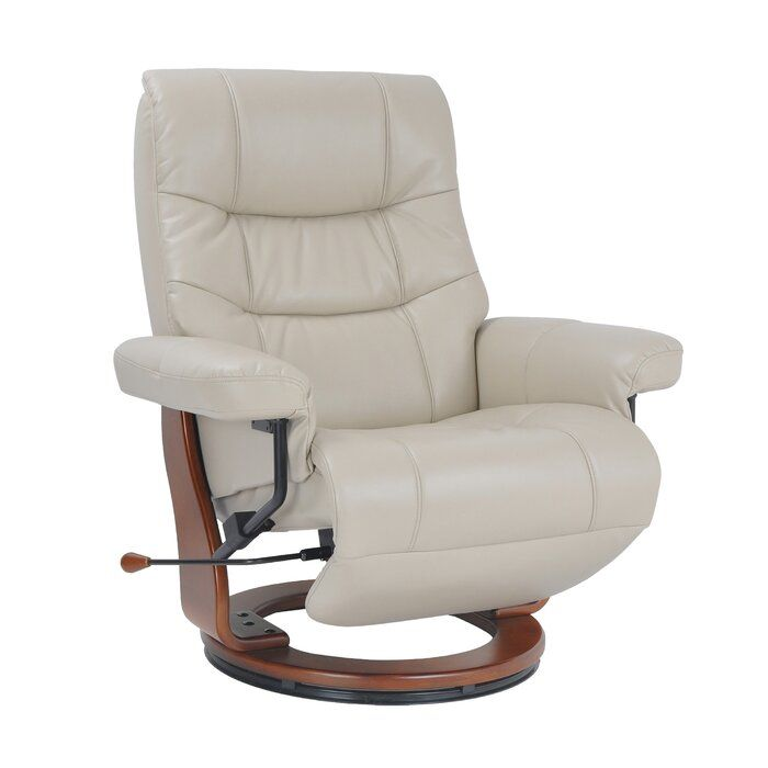Pin On Home Decor Design Leather swivel recliner with ottoman