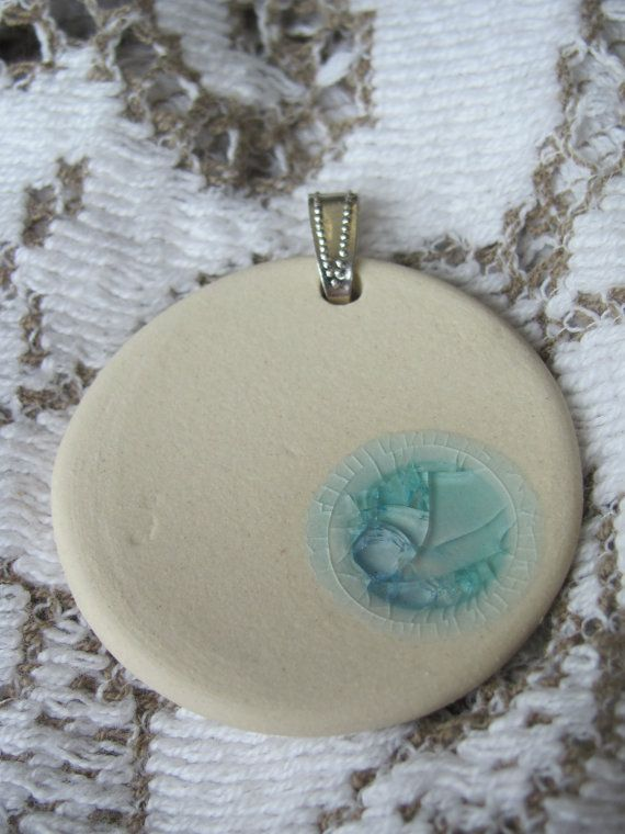 Ice pendant by Potteryforpeace on Etsy, $12.00