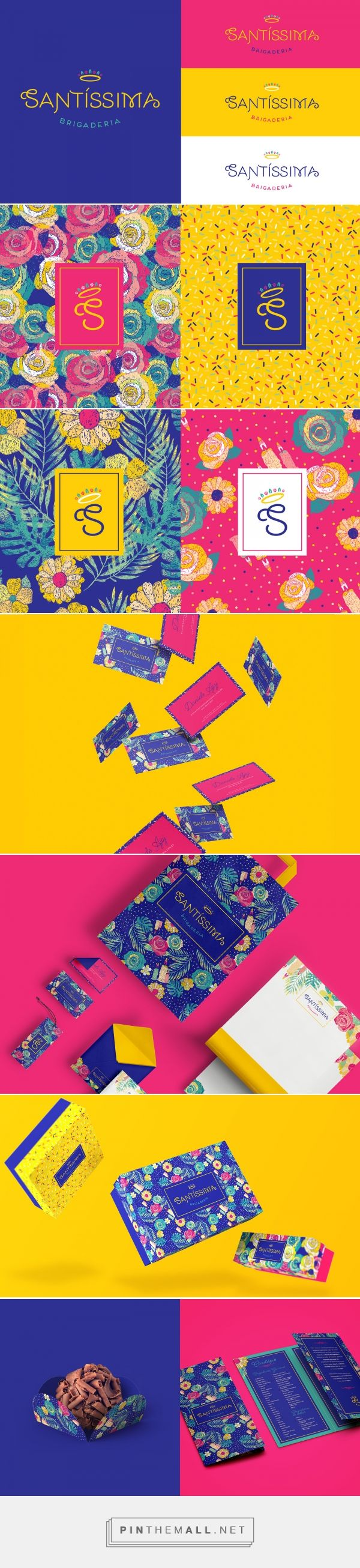 Colorful packaging for Santíssima Brigaderia on Behance curated by Packaging Diva PD. Brigadeiro is one of the most popular candies in Brazil, having condensed milk, butter and chocolate powder as a base for many flavors.