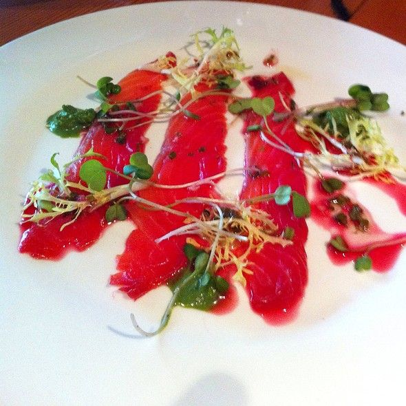Beet Cured Salmon @ OX #guelphfood